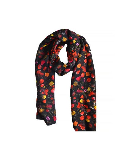 Floral Silk Scarf Crowning Glory Print